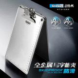 Aluminiumklemmbrett A5 mit Regelung-silbernem Farben-Basisrecheneinheits-Klipp