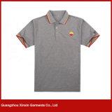 Camisas de polo europeas al por mayor del llano de la talla para los hombres y las mujeres (P88)