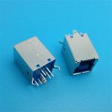 Best Selling novo estilo de 180 graus na vertical do conector de Camada Dupla USB