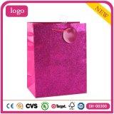 Sacos de papel do presente revestido cor-de-rosa da arte da loja de brinquedo da forma