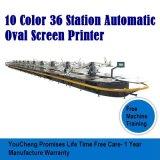 10 цветных 36 станции овальный экран Печать машины для текстильной