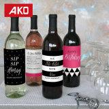 Wein-Bierflasche beschriftet Wasser-beständigen Zoll und personifizierte Kennsätze für Hochzeit oder andere Gebrauch
