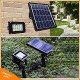 Kingconnの庭の景色の装飾のつくことのための太陽多彩なフラッドライトRGB LEDの太陽電池パネルの洪水ライト