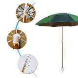 Parapluie de plage de 6 ft. Bande Cabana Bistro parapluie en aluminium