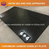 Carboneto do cromo que afronta a placa do desgaste para a cubeta da mineração
