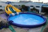 Neues Entwurfs-Pool und Wasser-Plättchen-riesiger preiswerter aufblasbarer Wasser-Park