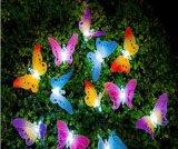 Eco-Friendly e luzes de borboletas Gaden de alta qualidade 10levou alimentada a energia solar a fibra óptica Fairy Piscina Natal Luzes de String