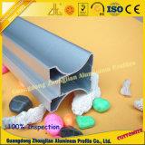 양극 처리된 은 표면을%s 가진 알루미늄 미닫이 문 단면도 밀어남