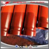 溝がある端が付いている赤い塗られた消火活動ERW氏鋼管