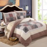 Lavable courtepointes 100% coton Plaid Brown Ensemble de literie