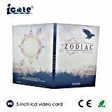 поздравительная открытка 5inch LCD видео-/видео- брошюра/видео- буклет для рекламы, подарка, образования
