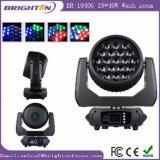 lumière mobile d'étape de zoom de lavage contrôlée par module de 19*40W RGBW DEL
