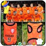 Gilet d'animal familier de vêtements de coupe du monde de crabot d'animal familier avec 8 l'équipe Jersey