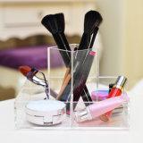 Organizador claro al por mayor hecho a mano de encargo del maquillaje de la encimera del lucite