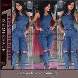 De sexy Magere Overall Jumpsuit van het Denim van Playsuit van de Jeans (TOSM4010)