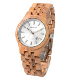 2018 남자를 위한 가장 새로운 도매 호화스러운 주문 Handmade 석영 나무로 되는 시계