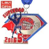 Metal transparente personalizado de promoción de la medalla de boxeo con placa de acrílico