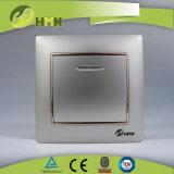 MODO variopinto del piatto certificato CE/TUV/CB 1 di standard europeo CON l'interruttore NERO della parete del LED