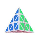 Cubos da mágica da pirâmide da inquietação do enigma dos brinquedos das crianças de Stickerless