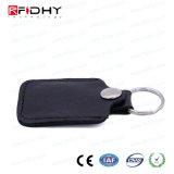Cuero 13.56MHz Keyfob de la tarjeta de la proximidad RFID para el control de acceso