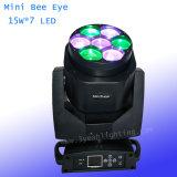 Mini-LED bewegliches helles Bienen-Hauptauge des DMX Stadiums-7X15W RGBW