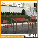 A tabela e as cadeiras à prova de fogo para qualquer tempo das crianças ajustaram a mobília de madeira de alumínio prática do pátio ao ar livre moderno do jardim