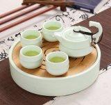 Conjuntos chinos útiles de la taza y del platillo de té de Kungfu Whiteware de la colección de la porcelana del estilo japonés de la nueva manera al por mayor para uno