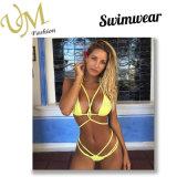 Желтый цвет Multicolor плюс размер Removeral прокладывая сексуальный Swimsuit Swimwear Бикини