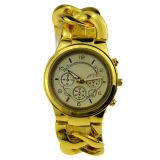 Reloj del estilo de Ginebra de la correa del acero inoxidable de la caja de la aleación para las mujeres