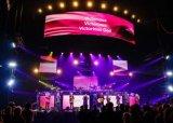 P2.98/P3.91/P4.81/P5.95 visualizzazione dell'interno dell'affitto LED che fa pubblicità per l'esposizione di evento, fase, congresso