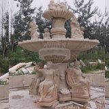 Sculpture sur Marbre naturel Fontaine sculpté à la main (GSF-156)