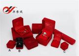 10 قطعات/محدّد رفاهية [رد كلور] مخمل صندوق يستعرض مجوهرات