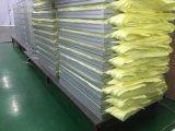 La eficiencia del filtro preliminar de bolsillo con material del núcleo de fibra sintética