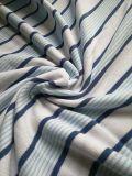 De Strepen Lacoste van de Kleurstof van het garen breien de Stof van het Overhemd van het Polo van de Stof of van het Overhemd van het T-stuk in de Katoenen van 100% Kwaliteit van de Uitvoer