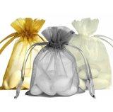 金の結婚祝いのオーガンザのドローストリング袋の贅沢なサテンのギフトの袋(COB-1115)