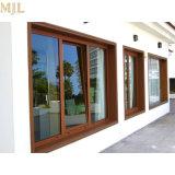 Nueva competencia de mayor venta de madera aluminio gire a la inclinación de la puerta de la ventana
