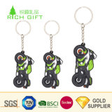 Advertizingのための高品質のFree Samples Custom Eco-Friendly Soft PVC Rubber 3D Motorcycle Keychain