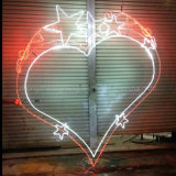 Stern-Motiv-Licht des Hersteller-LED warmes weißes mit Stahlrahmen-Supermarkt-Gebrauch