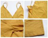 カスタム女性の服の袖なしのセクシーな背部が開いたスプリットエンドは長い夏のマキシの服を設計する