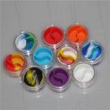 Crylic concentrado pequeño contenedor de cera de plástico con silicona silicona Insertar Jar de almacenamiento de silicona