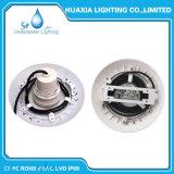 Llenos de resina de 18W LED de bajo el agua de la luz de la piscina de natación