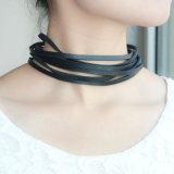 Multilayer PunkNauwsluitende halsketting van het Leer voor Dame