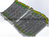 Hard Geanodiseerd Aluminium CNC die Controlerend Hulpmiddelen om de Delen van de Ligstoel Te lassen machinaal bewerken
