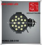 7 des Zoll-51W LED nicht für den Straßenverkehr fahrendes Licht Arbeits-des Licht-LED des Licht-LED