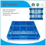 1100*1100*170mm palets de plástico de HDPE 1.5T Estante pesado de carga de la bandeja de plástico palets Carretilla de acero con 7 Productos de almacén