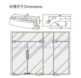 Abrazadera de cristal de la puerta de la aleación del acero inoxidable 304/aluminio de Dimon, corrección que ajusta el vidrio de 8-12m m, guarnición de la corrección para la puerta de cristal (DM-MJ 211S)