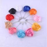Commercio all'ingrosso artificiale del Corsage di cerimonia nuziale del Brooch del fiore del tessuto degli accessori unisex di modo