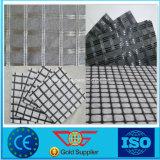 Warp трикотажные полиэстер композитный материал Geogrid Geotextile 100 Кн