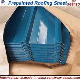 Лист толя цвета строительного материала 0.125-0.8mm Coated Corrugated гальванизированный стальной