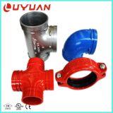 Accessorio per tubi ed accoppiamento Grooved di approvazione dell'UL FM con la guarnizione di EPDM